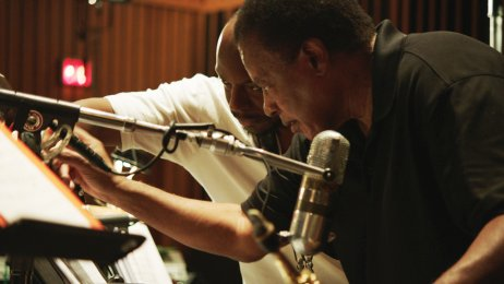 Pressefoto Blue Note Records - Marcus Strickland, Wayne Shorter © Vinca Film